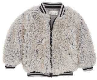 Widgeon Happy Lil Faux Fur Varsity Jacket