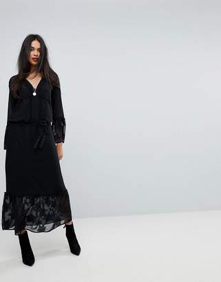 Sisley Maxi Dress With Bell Sleeves