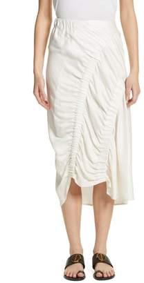 Zero Maria Cornejo Ruched Drape Skirt