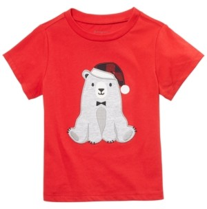 First Impressions Toddler Boys Santa Bear T-Shirt, Created For Macy's