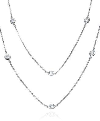 Crislu Layered Necklace, 36""