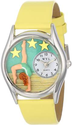 Whimsical Watches Women's S0810004 Gymnastics Yellow Leather Watch