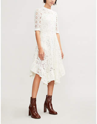 See by Chloe Floral macramé dress