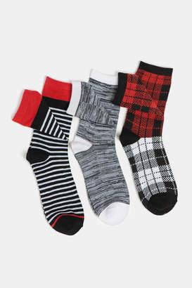 Ardene Pack of Plaid Socks