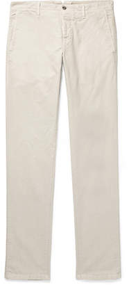 Incotex Slim-fit Stretch-cotton Twill Trousers - Off-white