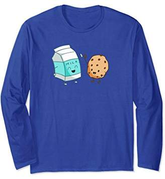 Milk with Cookie Giving High Five Long Sleeve T-Shirt