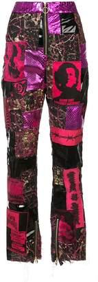 Di Lara Dilara Findikoglu patchwork punk trousers