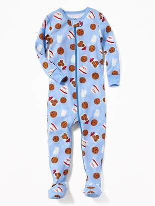 Old Navy Milk & Cookies Print Footed Sleeper for Toddler & Baby