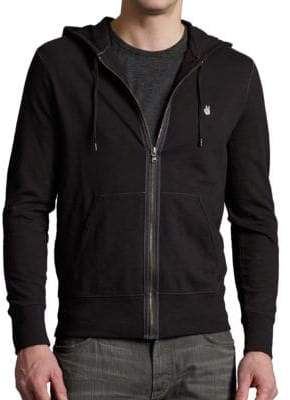 John Varvatos Embroidered Peace Hoodie