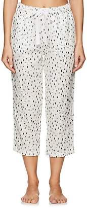 Castle & Hammock Women's Dot-Print Cotton Drawstring-Waist Pants