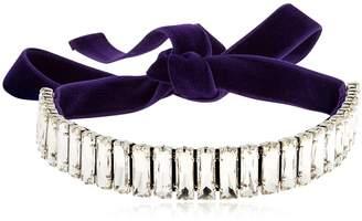 Giuseppe Zanotti Design Amanda Velvet & Crystal Choker Necklace