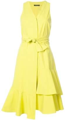 Josie Natori tie front asymmetric dress