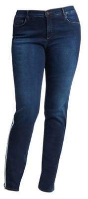 Marina Rinaldi Marina Rinaldi, Plus Size Dark Navy Side Stripe Stretch Jeans