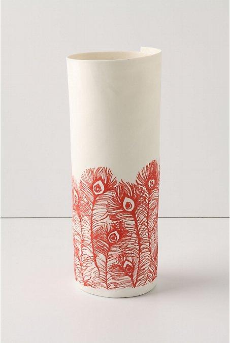 Paper Sketch Vase, Plume - 10.5