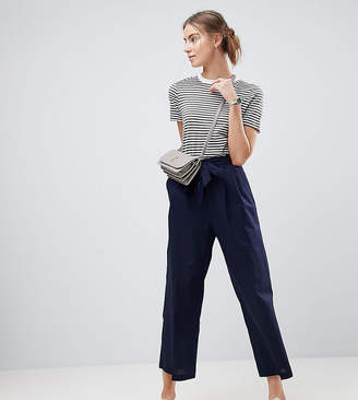 ASOS Tall ASOS TALL Tailored Linen Culotte with Tie Waist