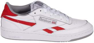 Reebok White And Red Revenge Plus Sneakers