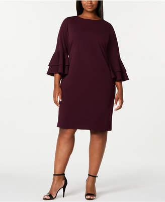 Calvin Klein Plus Size Tiered-Bell-Sleeve Dress