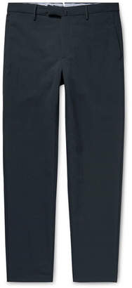 Incotex + Nanamica Slim-fit Tapered Stretch Tech-jersey Trousers - Midnight blue