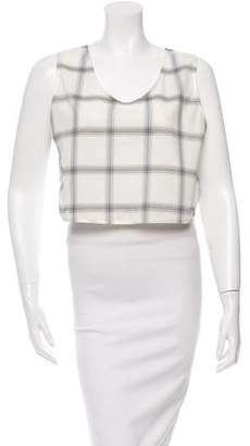 MAISON KITSUNÉ Ana Check Wrap Around Top w/ Tags