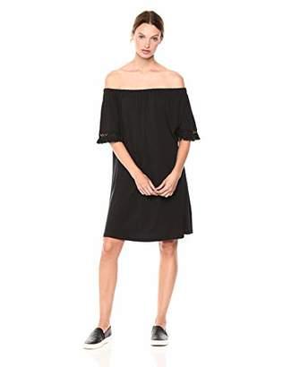 Brooke Mille Women's Off Shoulder Dress with Tassel Sleeve M