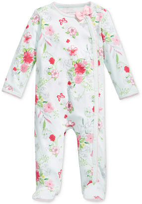 First Impressions 1-Pc. Floral-Print Footed Coverall, Baby Girls (0-24 months), Only at Macy's $11.98 thestylecure.com