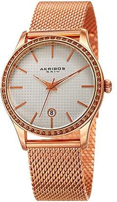 Akribos XXIV Women's Swiss Quartz Stainless Steel Casual Watch