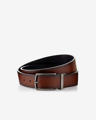 Express Reversible Antiqued Metal Buckle Belt