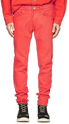 424 Men's Distressed Skinny Jeans - Orange