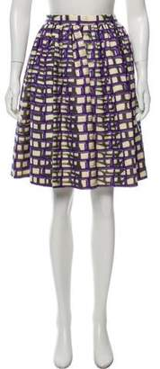 Maison Rabih Kayrouz Printed Knee-Length Skirt