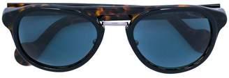 Moncler Eyewear tortoiseshell blue frame sunglasses