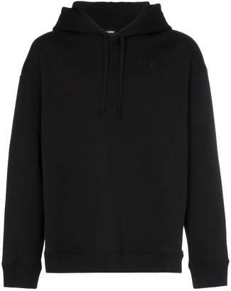 Raf Simons black clubber graphic print hoodie
