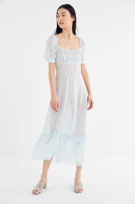 e41f17f331c Urban Outfitters Salem Sheer Puff Sleeve Maxi Dress