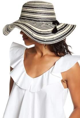 14th & Union Tassel Detail Stripe Floppy Hat