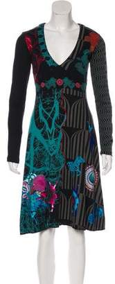 Desigual Long Sleeve Knee-Length Dress w/ Tags