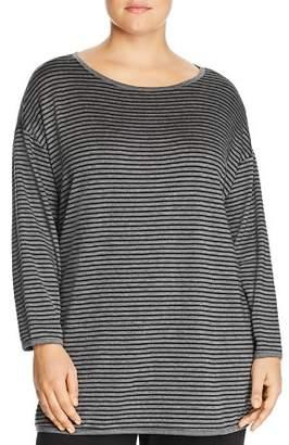 Eileen Fisher Plus Striped Tunic Top