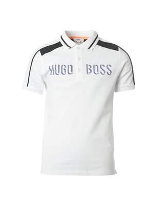 HUGO BOSS Kids Contrast Colour Bold Logo Polo