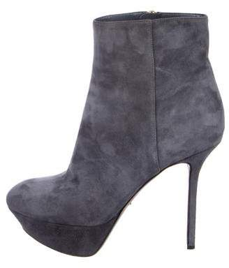 Sergio Rossi Suede Platform Ankle Boots