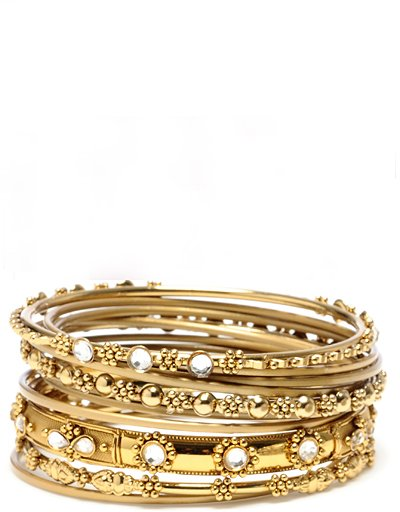 Amrita Singh 11 Piece Bangles in Gold