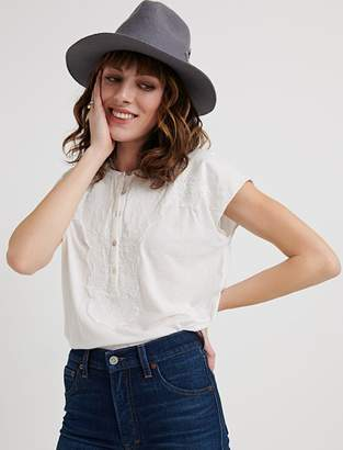 Lucky Brand Washed Applique Henley