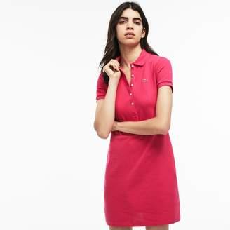 Lacoste Women's Stretch Cotton Mini Pique Polo Dress