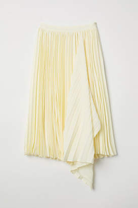H&M Pleated Skirt - Yellow