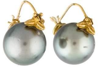 Gabrielle Sanchez 18K Pearl Flyer Earrings