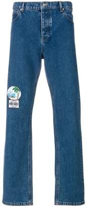 Kenzo regular appliqué patch jeans