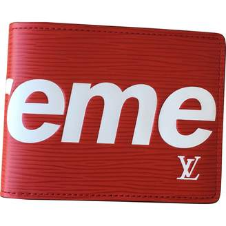 Louis Vuitton X Supreme Red Leather Small Bag, wallets & cases