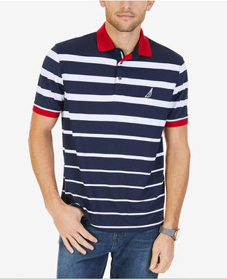 Nautica Men's Variegated Stripe Performance Polo