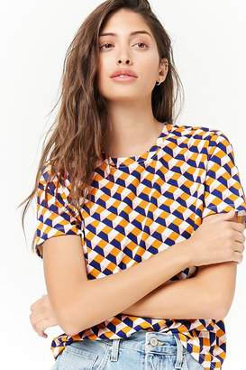 Forever 21 Boxy Geo Print Tee