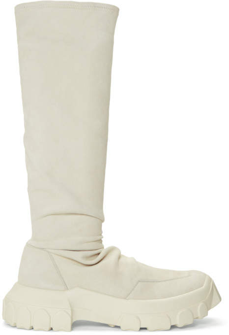 White Stretch Hiking Sock Sneakers