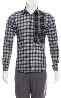 Givenchy Plaid Woven Shirt