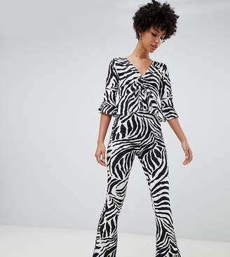 Reclaimed Vintage inspired zebra jersey flare