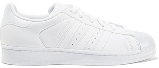 Adidas Originals - Superstar Glossy Leather Sneakers - White $90 thestylecure.com